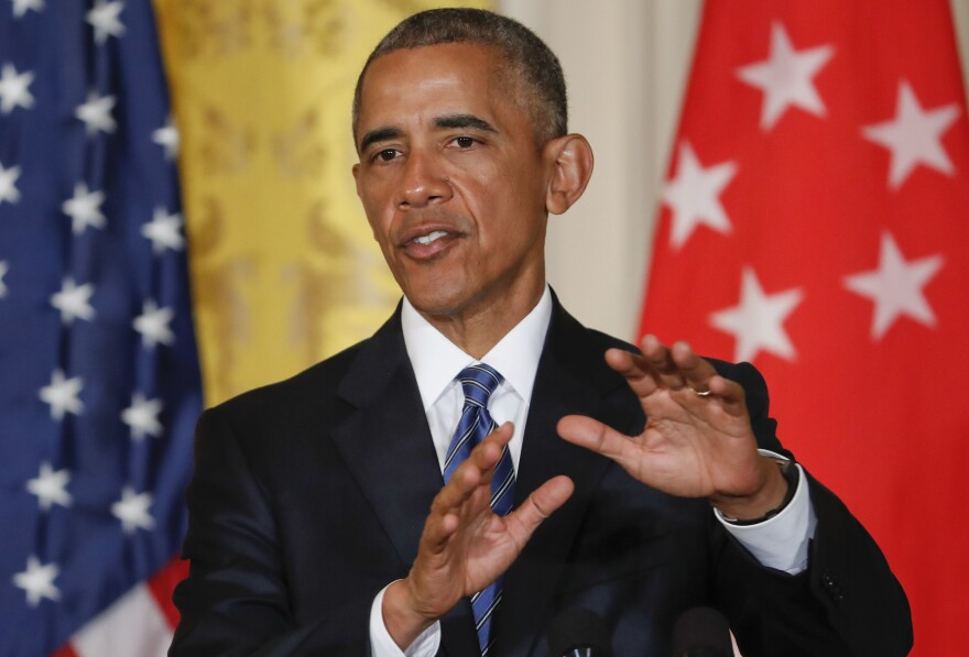 """President Obama slammed Republican nominee Donald Trump as """"unfit"""" and """"woefully unprepared"""" to be president during a news conference with Singapore's prime minister at the White House on Tuesday."""