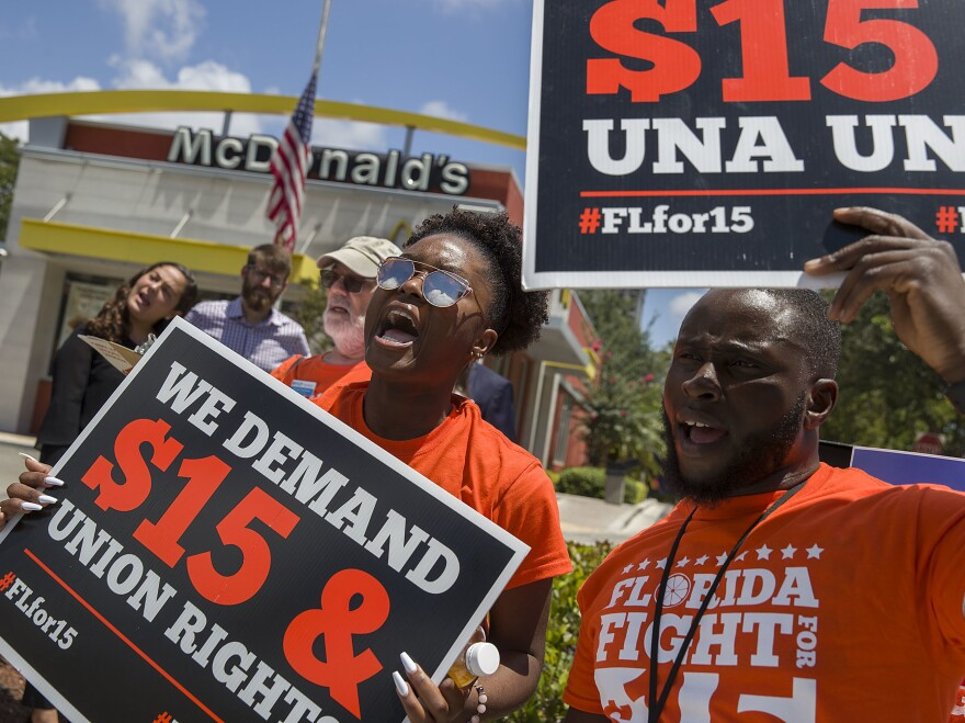 Florida became the eighth state and the first Southern state to adopt a $15 minimum wage. The increase will be gradual, reaching $15 an hour in 2026.