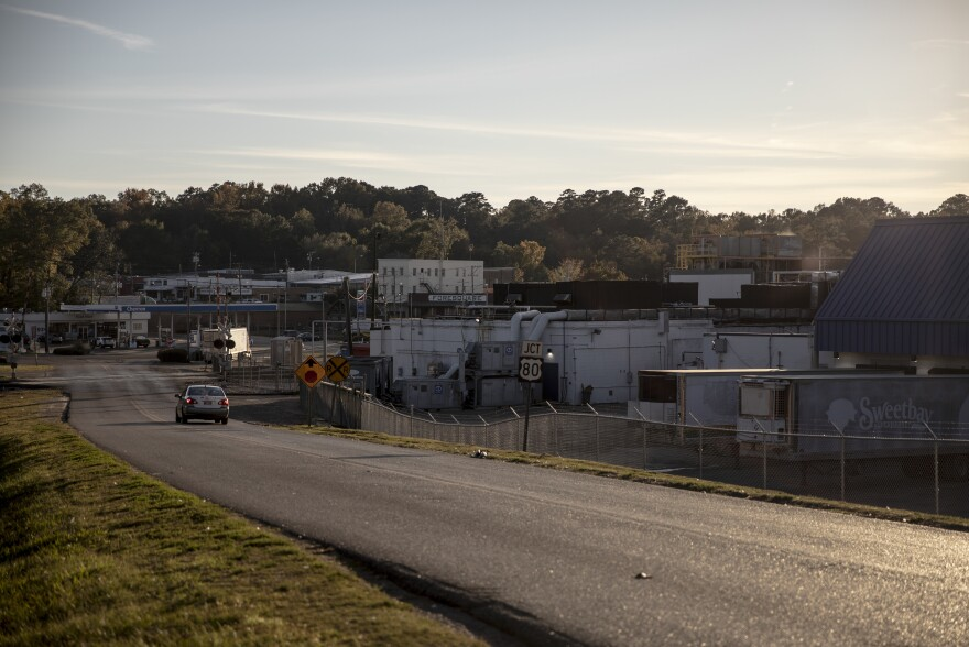 "A view of the Koch Foods plant in Morton, Miss. The company says it is ""diligent about its compliance with state and federal employment eligibility laws."""