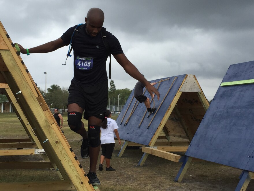 Every obstacle tests something, whether it's strength, flexibility or balance.