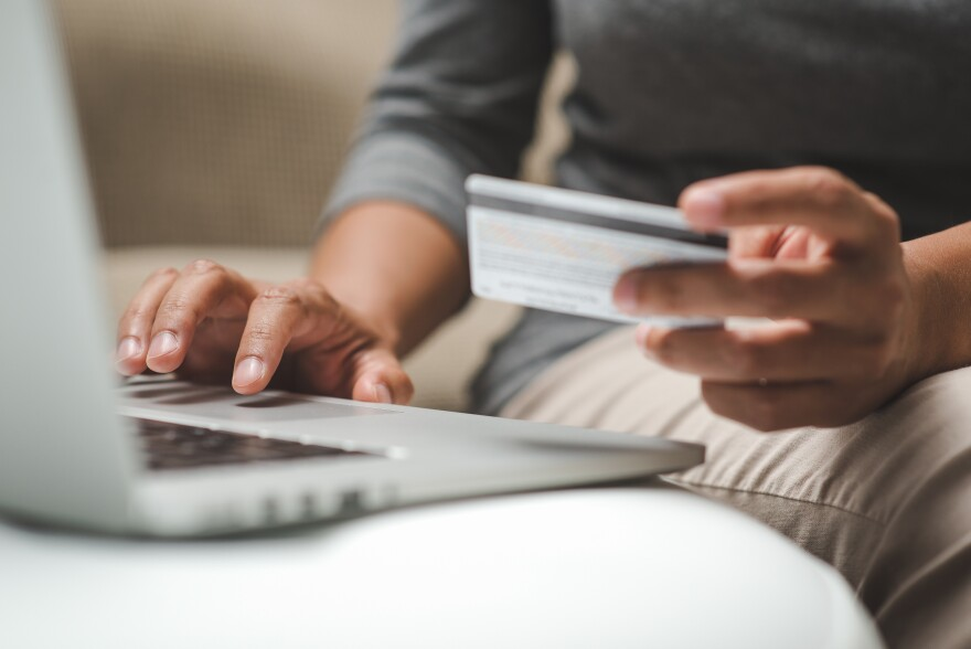 """Online sales are growing by about <a href=""""https://www.census.gov/retail/mrts/www/data/pdf/ec_current.pdf"""">15 percent</a> each year, but states say they're not getting their fair share of taxes from e-commerce."""