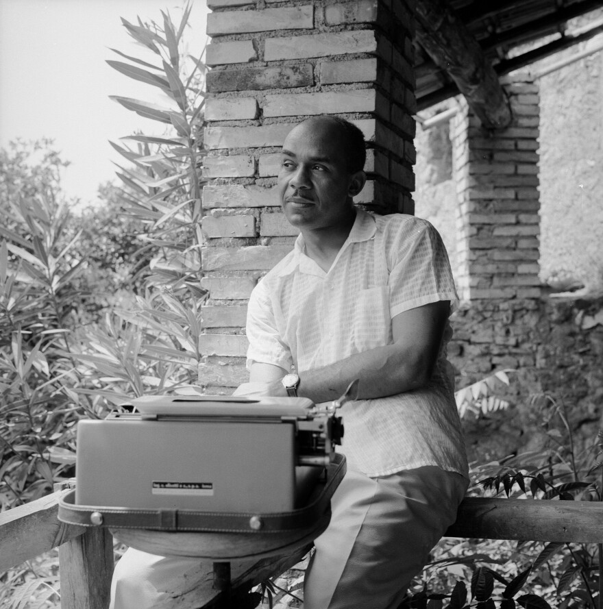 Ralph Ellison in 1957, four years after his novel <em>Invisible Man</em> won the National Book Award. Ellison died in 1994.