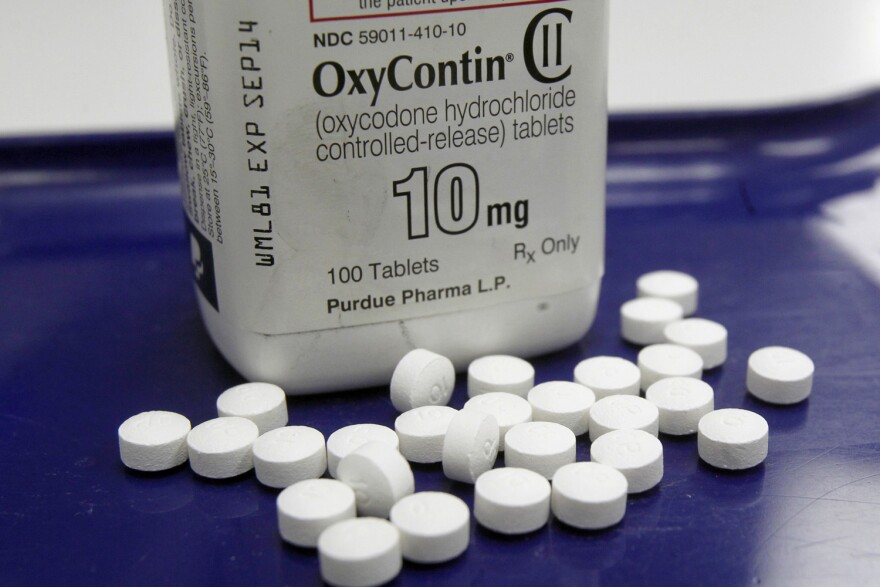 Oxycontin, shown in this file photo, is made by Purdue Pharma. (Toby Talbot/AP)