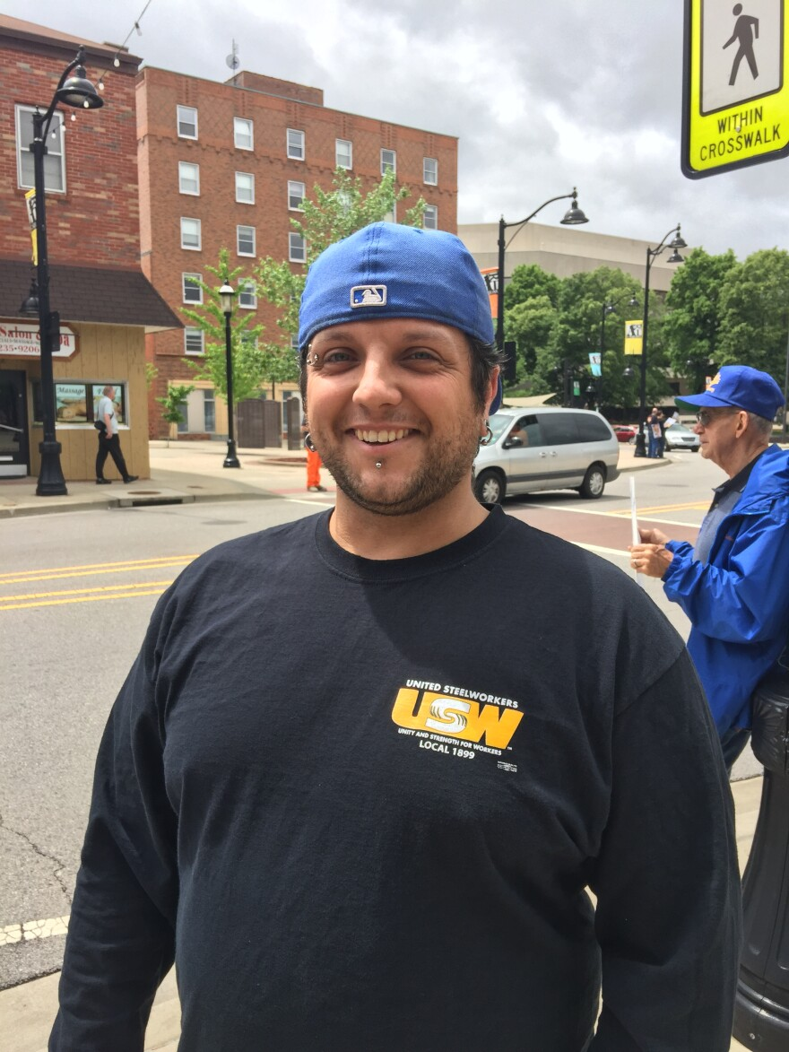 Steelworker Jerry Koroby