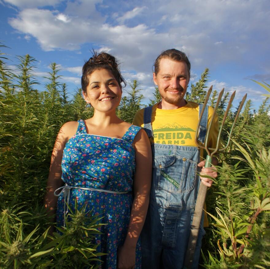 The founders of Freida Farms, Kristen and Zane Kunau, have grown hemp in Colorado since 2014.