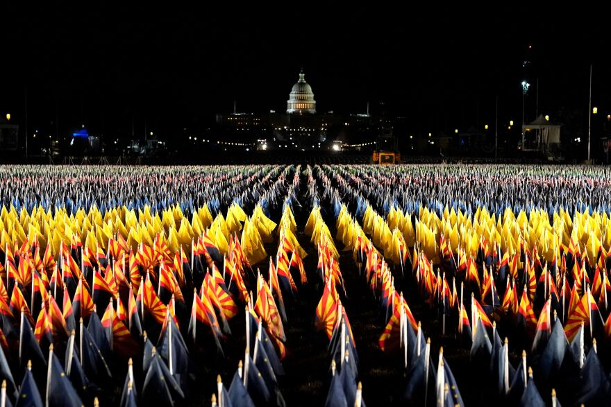 "The ""Field of Flags"" on the National Mall."