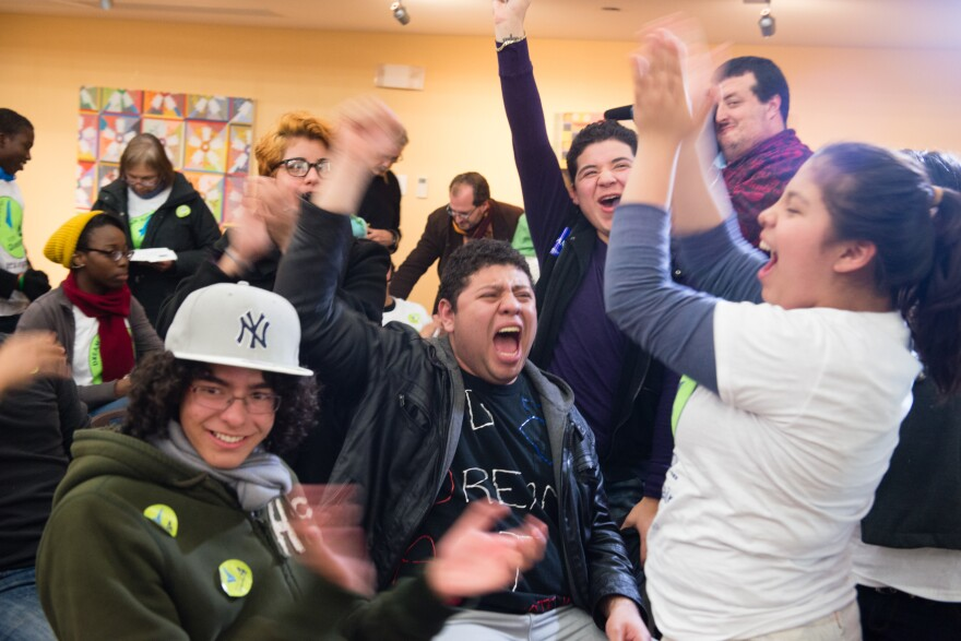 At the Casa de Maryland main building in Hyattsville, Maryland immigration advocates gathered on election night to watch the results come for question 4, The Maryland Dream Act and the race for the President.