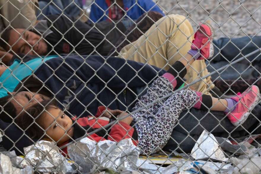Over the weekend, families were housed under the Paso del Norte bridge. Officials said the influx of families and the lack of space in detention facilities left them no choice.