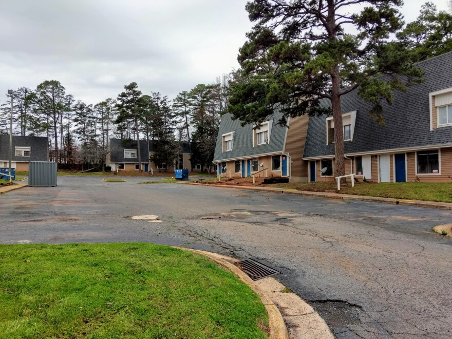 Parking lots at Lake Arbor Apartments are empty and the apartments are vacant after the owners ordered everyone out to prepare for renovations - and apparently a sale.
