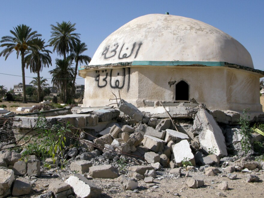 <p> In recent months, local residents say Islamists have attacked and damaged this shrine in Sheikh Zuweid in northern Sinai. Egyptian and Western officials have raised concerns about Islamist groups springing up in North Sinai, but the locals say they wield no power here.</p>