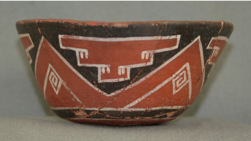 <strong>Make mine a venti: </strong>An example of a drinking vessel from the<strong> </strong>Grasshopper Pueblo archaeological site in central Arizona. Researchers tested shards of similar vessels found at various sites in the American Southwest and found evidence that people in the region were drinking caffeinated cacao and yaupon holly drinks 1,000 years back.