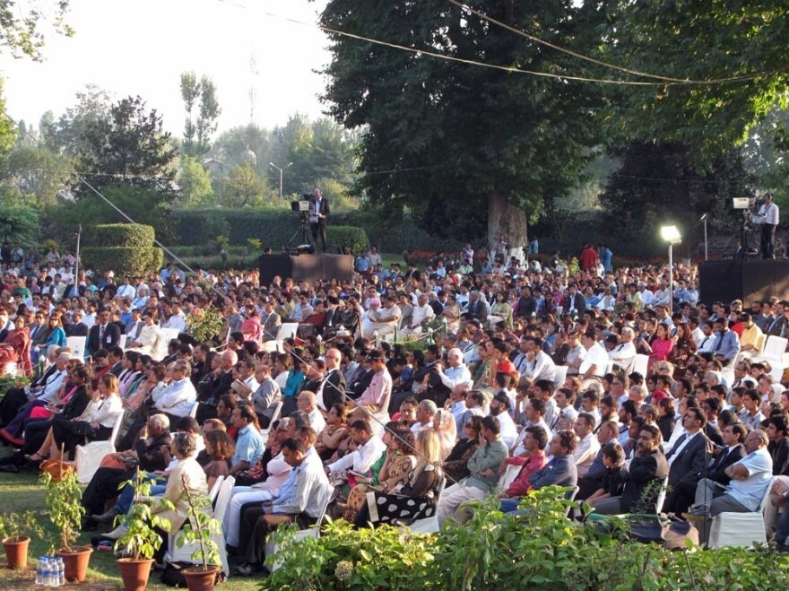 The audience at the Mughal-era Shalimar Gardens consisted mostly of VIPs. Mehta himself seemed abashed by the exclusiveness of the event.