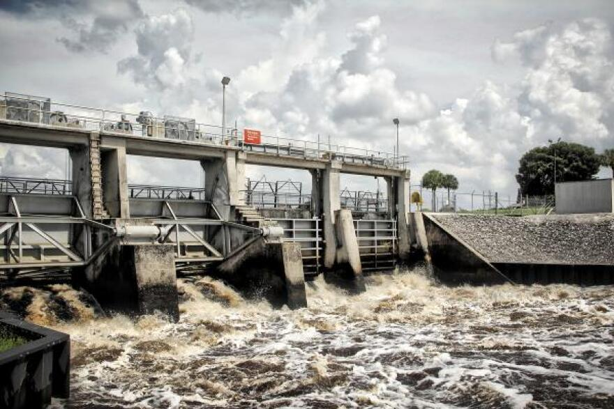 Water from Lake Okeechobee released into the Caloosahatchee River last year.