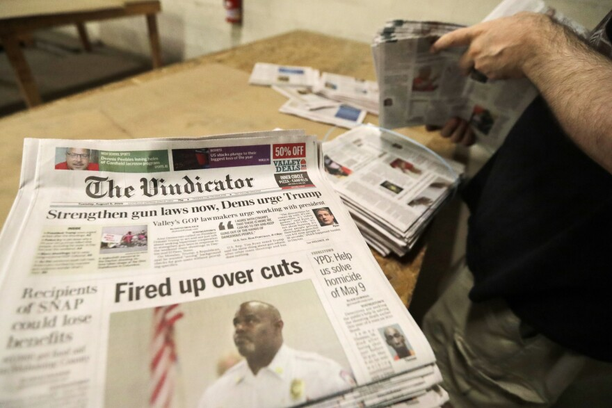 . The Youngstown Vindicator announced in June it would cease publication Saturday, Aug. 31, because of financial struggles, but the paper will be printed by the Tribune Chronicle, which has bought the name and subscriber list.