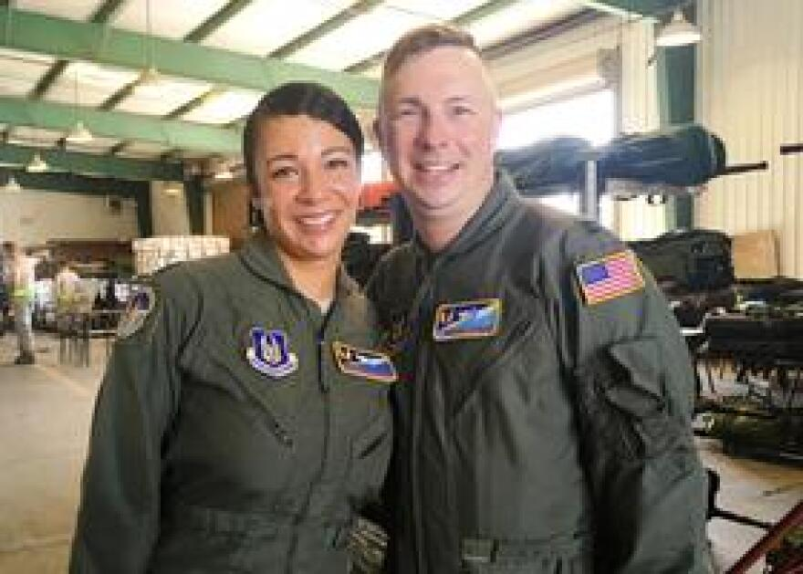 Major Goodman and Captain Ofman both serve with the 45th Aeromedical Evacuation Squadron tasked with evacuating medically critical patients from St. Croix.
