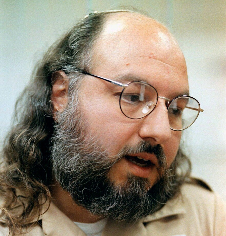 Jonathan Pollard speaks during an interview at the Federal Correctional Institution in Butner, N.C., in May 1998. Pollard, who was convicted of spying for Israel, is set to be released as soon as Friday after serving three decades in prison.