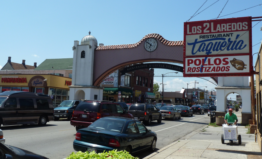 "Chicago's Little Village, one of the neighborhoods at the center of ""Barrio America: How Latino Immigrants Saved the American City."" 