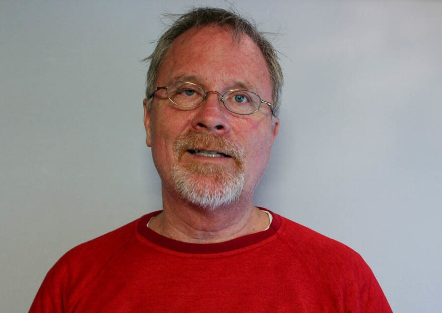 Rodger McDaniel remembers his late father at his StoryCorps interview in Laramie, Wyo.