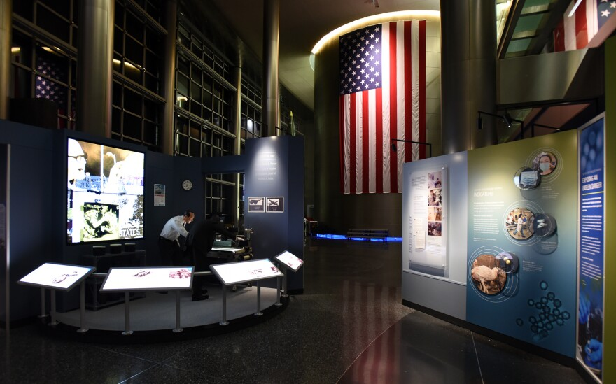 The museum at the Defense Intelligence Agency in Washington features scenes from the U.S.-Soviet Cold War, including this exhibit from the Cuban Missile Crisis in 1962.