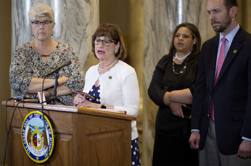 Sen. Jill Schupp, D-Creve Coeur, spoke out against an abortion ban that ended up passing out of the Senate on Thursday morning.