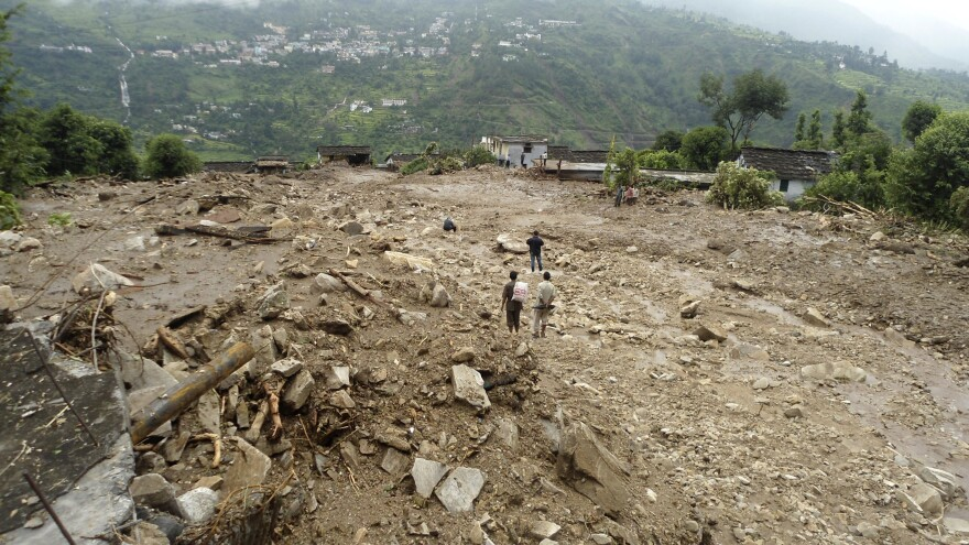 Flash floods followed heavy rains in northern India in September.