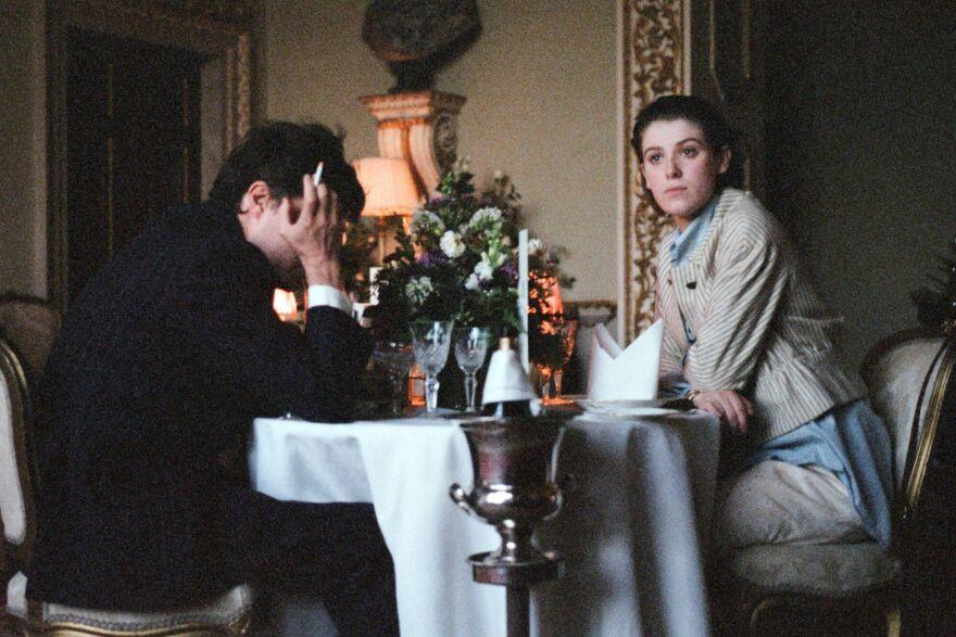 Anthony (Tom Burke) and Julie (Honor Swinton Burne) navigate a toxic romance in Joanna Hogg's <em>The Souvenir. </em>