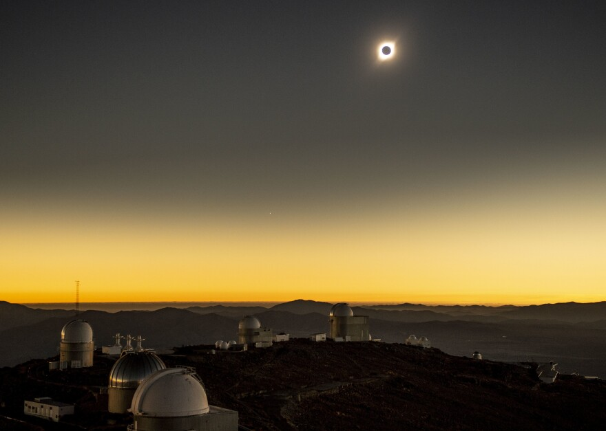 July 2's total solar eclipse as seen from La Silla Observatory in Chile.