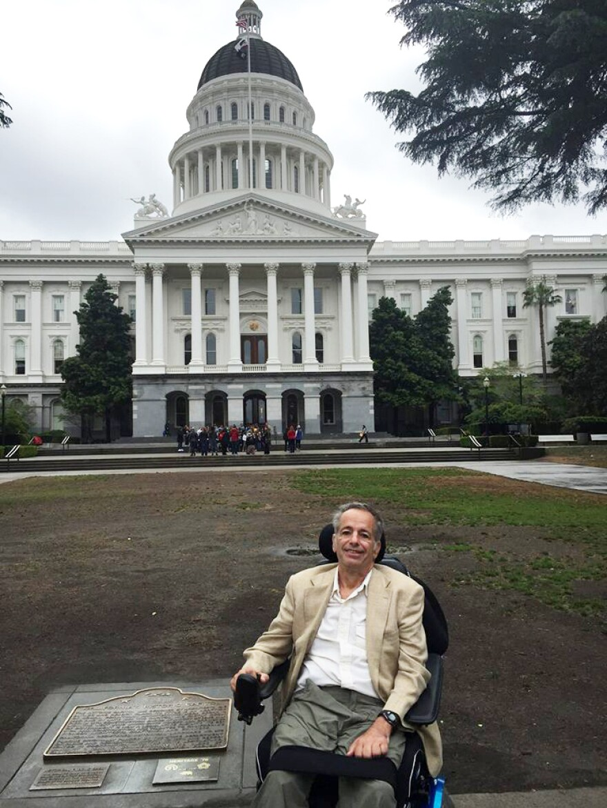 David Huntley testified in favor of California's right to try bill in April 2015 in Sacramento. He died three months later.