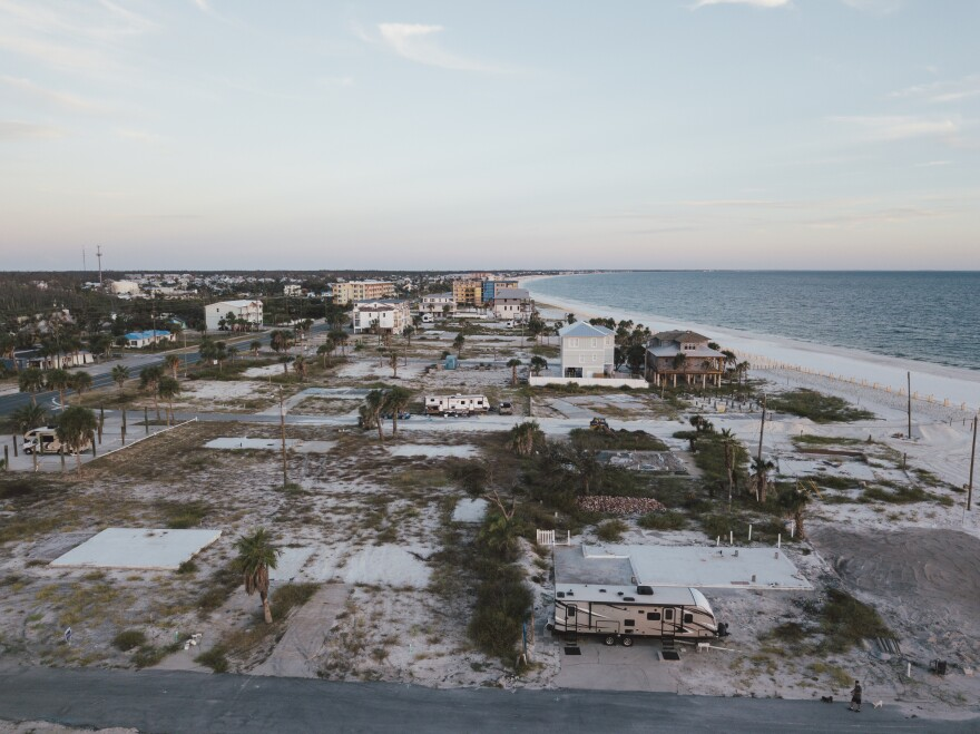 While some rebuilding has begun along Mexico Beach, many lots remain empty after Hurricane Michael destroyed the homes that once stood there.
