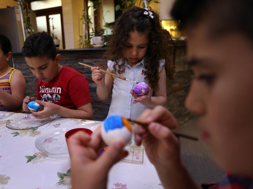 Iraqi Christians survived ISIS's genocide, and for Easter, children painted eggs in Erbil, the capital of the autonomous Kurdistan Region of Iraq.