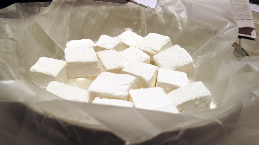 Cubed marshmallows