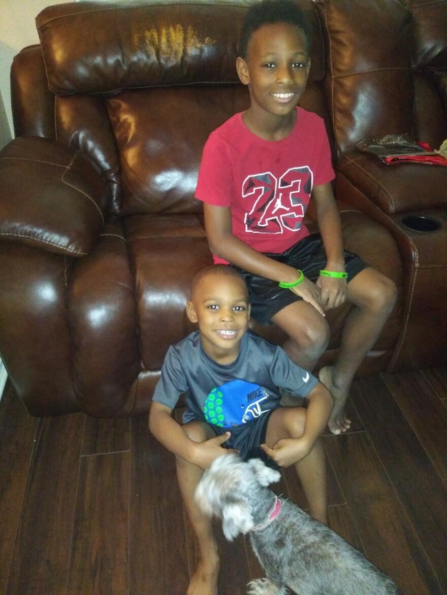 Kim Jermany's sons David, Jr. and Aaryn.