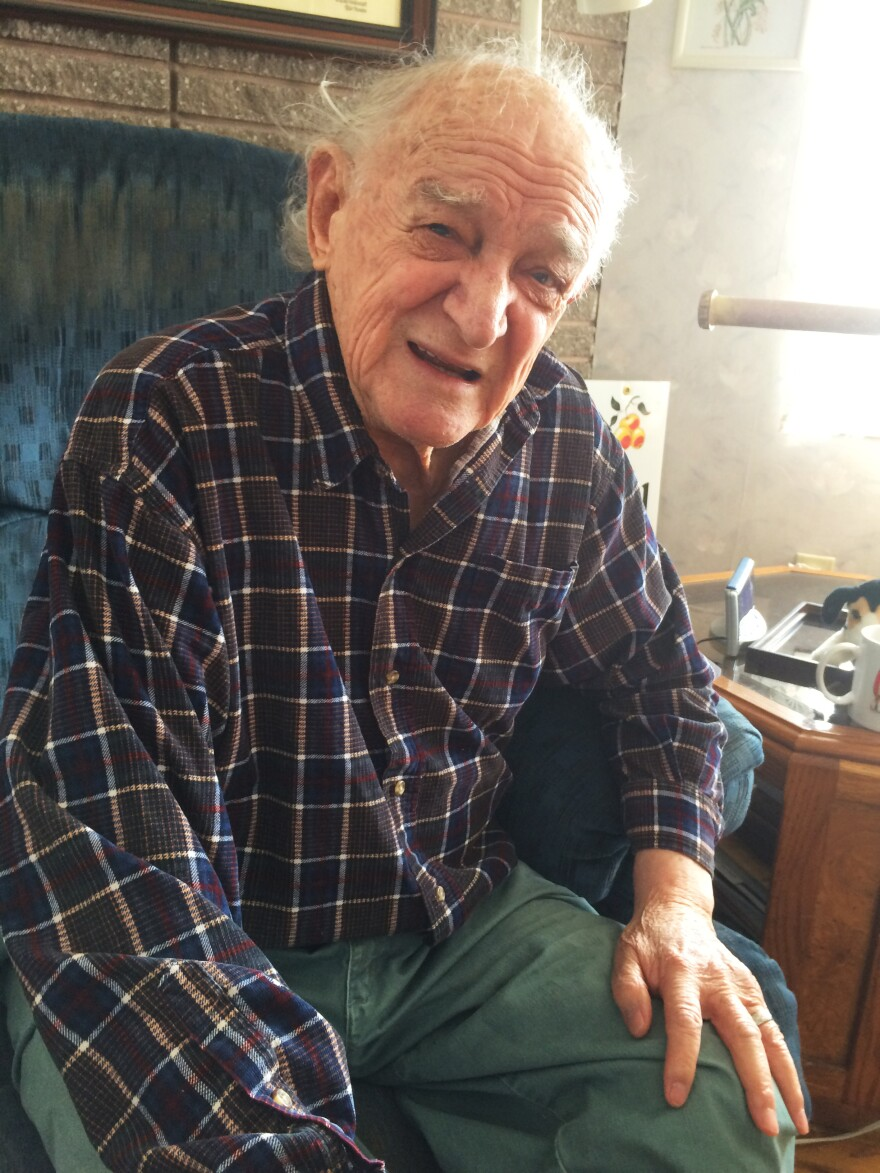 Bob Ebeling in his home in Brigham City, Utah.