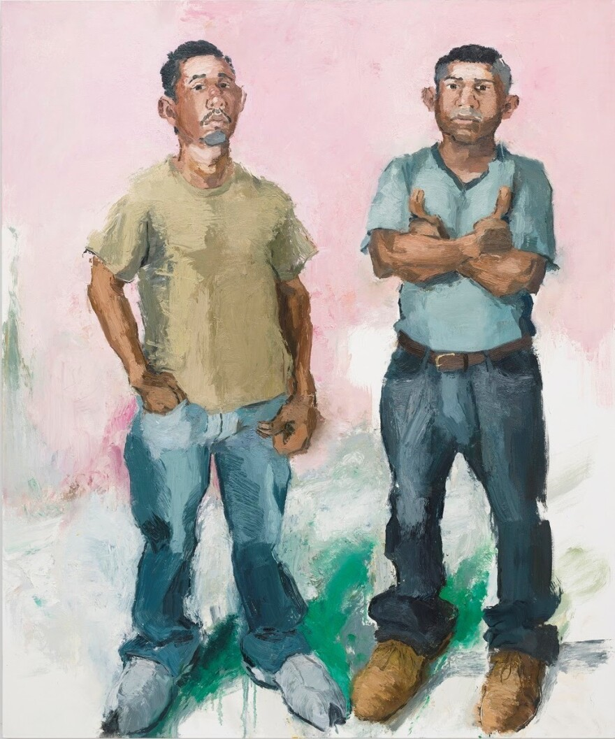 Sonsini says he tries to capture the presence of the men he paints in his portraits. Above, <em>Francisco & Raul, </em>2009