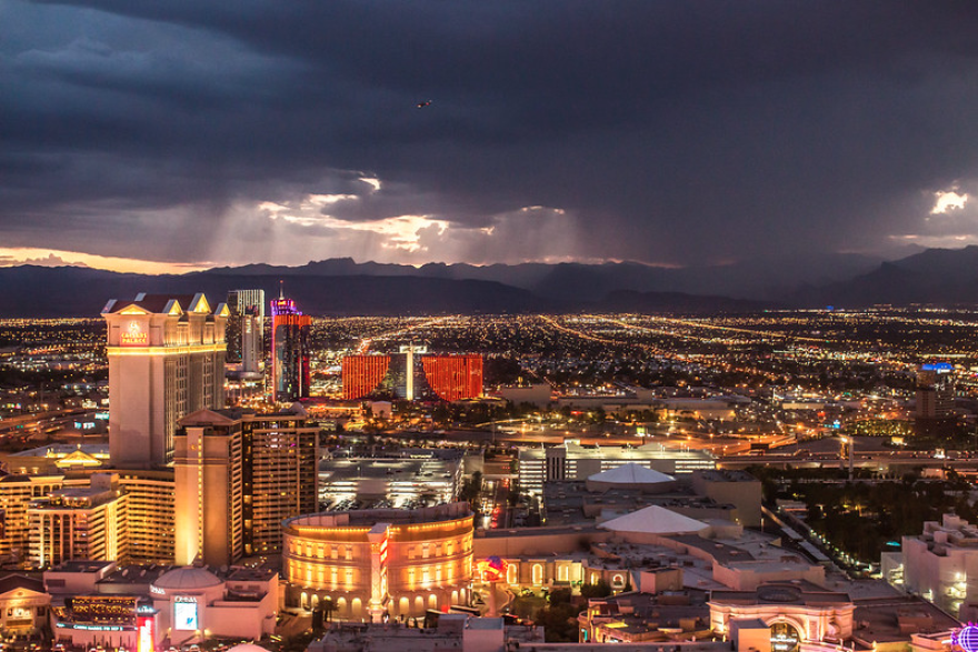 Nevada casinos brought in about $1 billion in both March and April of last year.