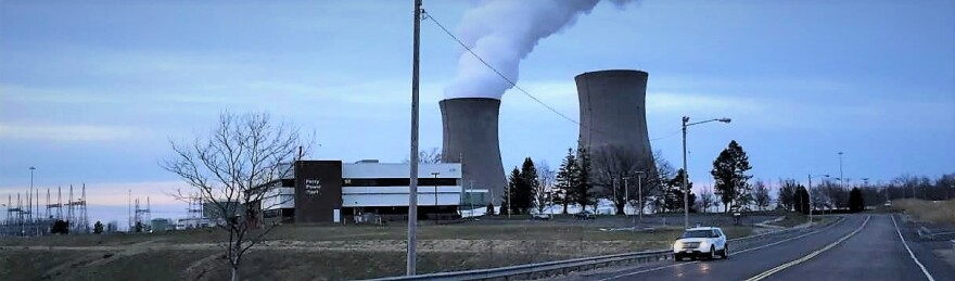 Perry nuclear power plant seen from the south