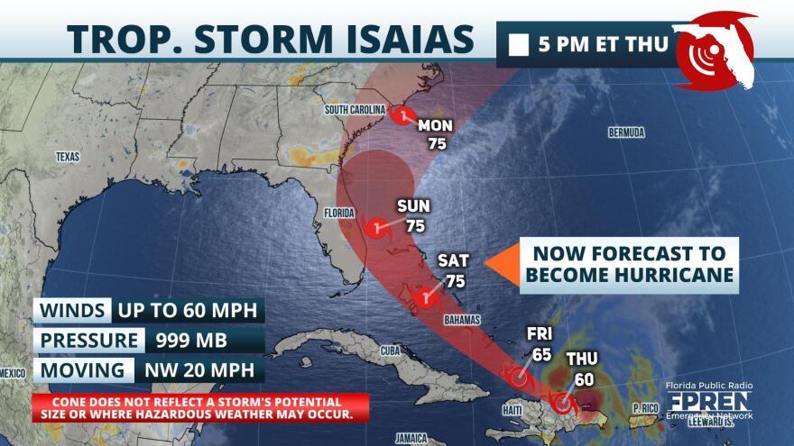 Tropical storm map