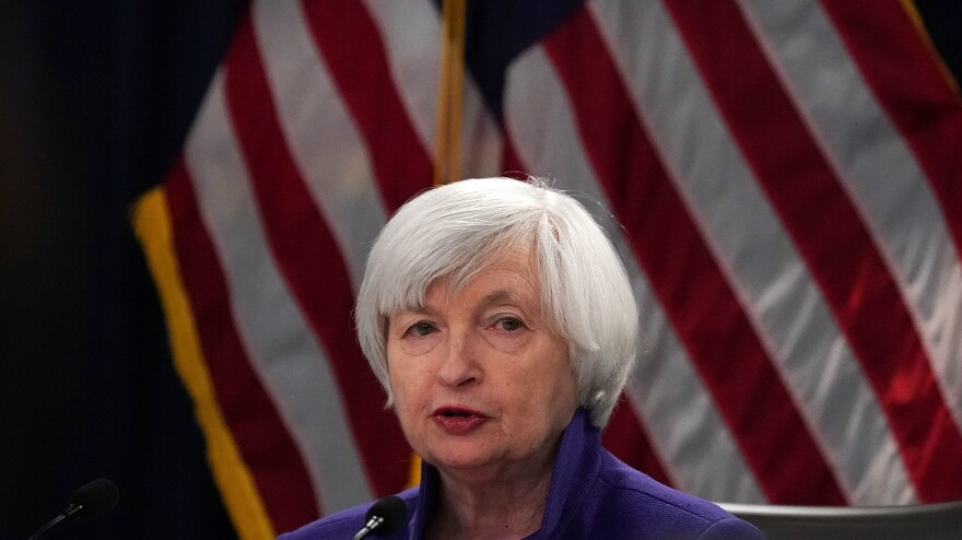 Janet Yellen, seen here in 2017, would be the first female treasury secretary in U.S. history, if confirmed by the Senate.