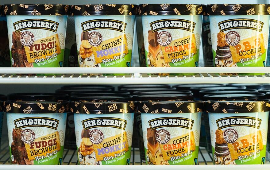 Today, Ben & Jerry's has seven flavors of almond-milk-based vegan frozen desserts.