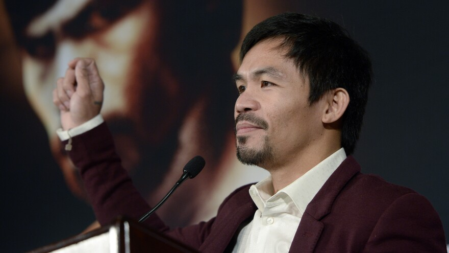 """Manny Pacquiao, who's currently running for a Senate seat in the Philippines, was criticized for saying it was """"common sense"""" that animals don't have homosexual relations — and that people who do are worse than animals."""