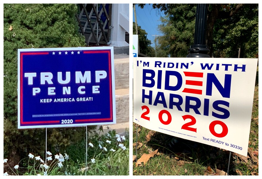 Trump Biden signs