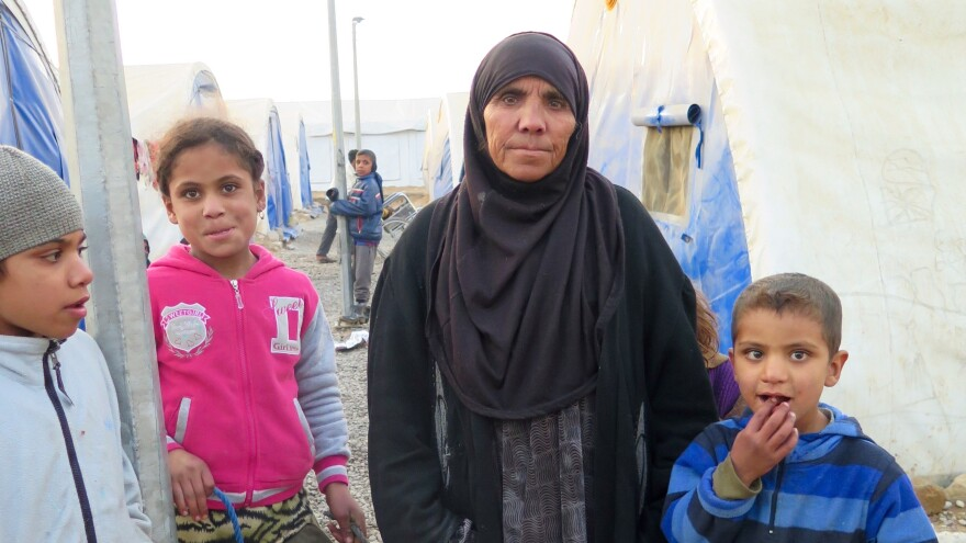 Hamda Mahmoud handed over her teenage son to the Iraqi army after he joined ISIS. Mahmoud and her family were kicked out of their village and are living in a camp about 60 miles from Mosul, Iraq.