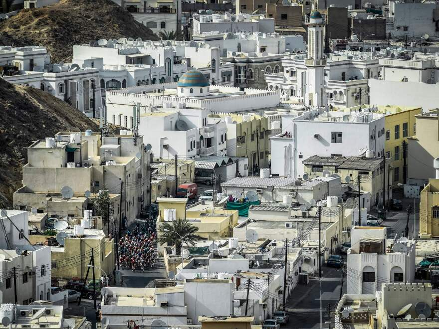 Muscat, Oman's capital, is quieter and calmer than many other Mideast cities.