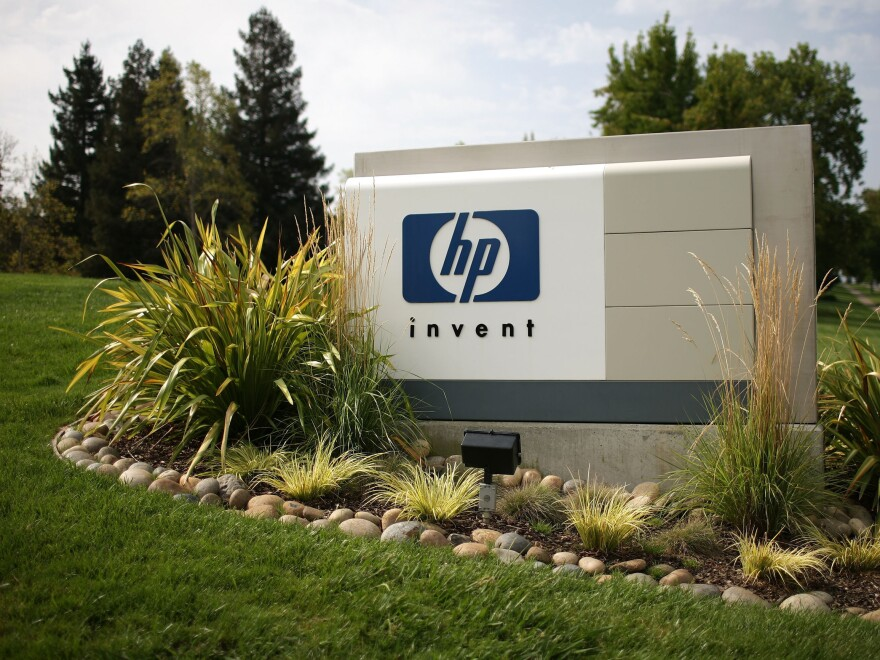 At Hewlett-Packard headquarters in Palo Alto, Calif.