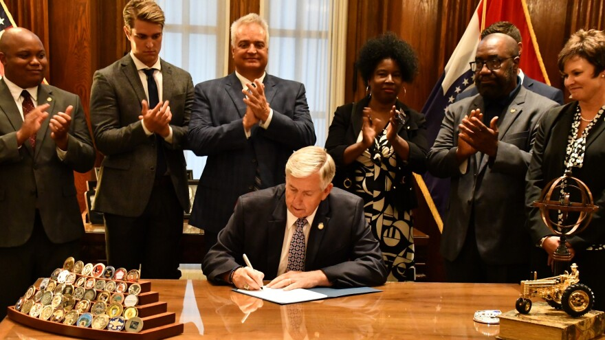Missouri Republican Gov. Mike Parson signed a bill on July 9 that gets rid of mandatory minimums for some nonviolent crimes. It takes effect Aug. 28.