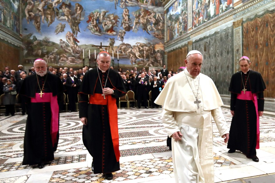 Pope Francis spoke to the ambassadors to the Holy See on Monday.