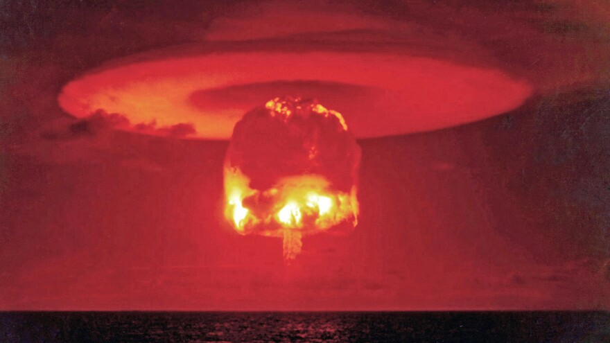 Castle Romeo was an American hydrogen bomb test in March 1954 at Bikini Atoll in the Pacific. It was 11 megatons, or roughly 1,000 times more powerful than North Korea's test on Wednesday. North Korea says it was a hydrogen bomb test, though the White House says it doubts the claim.