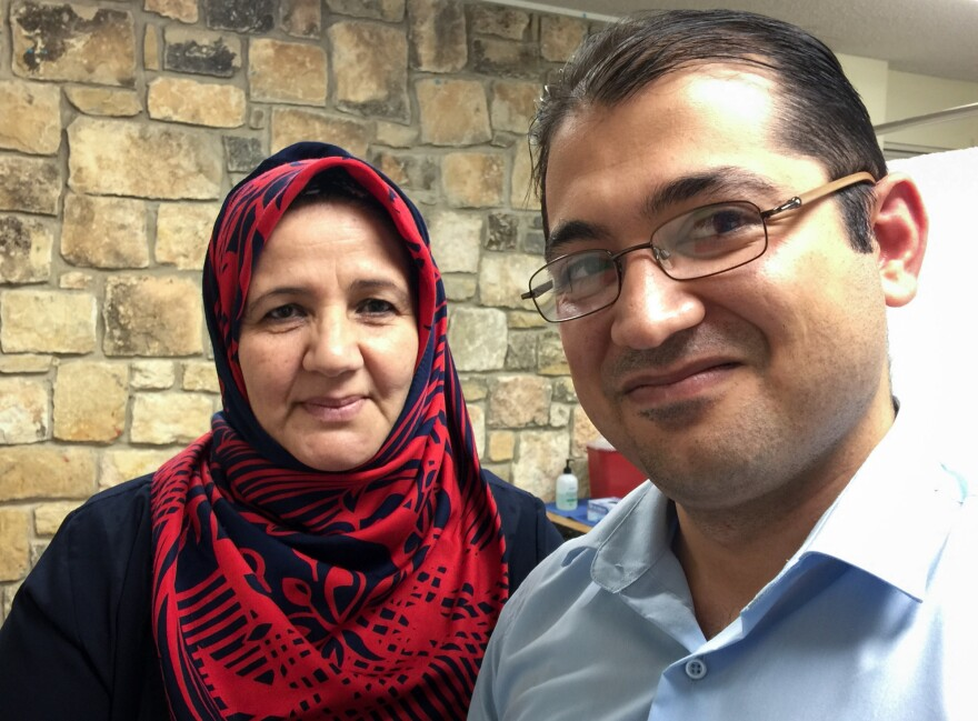 Layla Mohsin, a teacher from Iraq, and her son Karrar Al Gburi are clients of the Refugee Health Clinic.