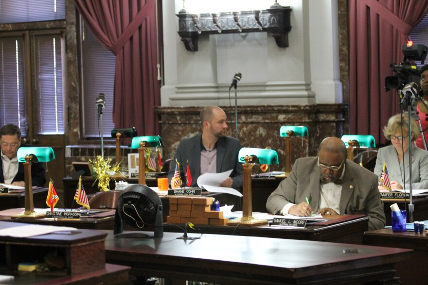 The Board of Aldermen at work last year.