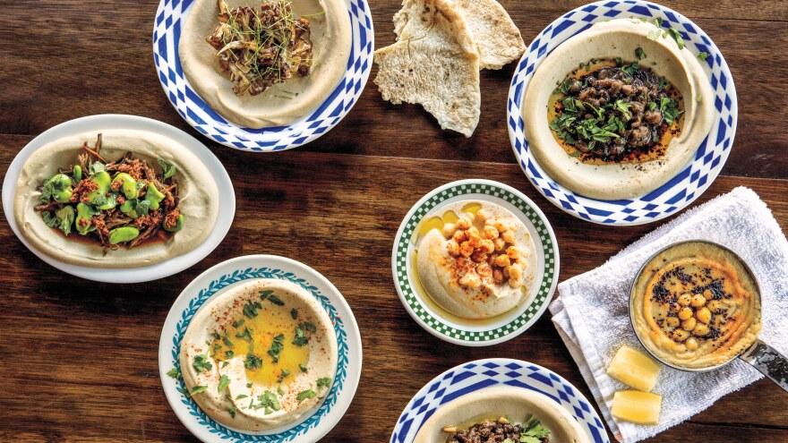 "Michael Solomonov describes Israeli-style hummus as ""a marriage of chickpeas and <em>tehina.""</em>"